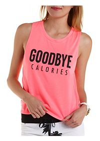 Goodbye Calories Graphic Muscle Tee
