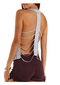 Caged T-Back Swing Tank Top