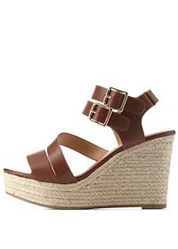 City Classified Strappy Espadrille Wedges
