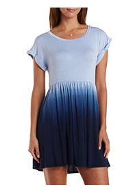 Dip-Dye Babydoll T-Shirt Dress