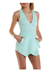 Deep V Envelope Romper