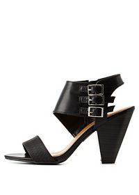 City Classified Triple-Belted Cone Heels
