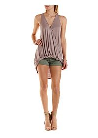Twisted Hem High-Low Tank Top