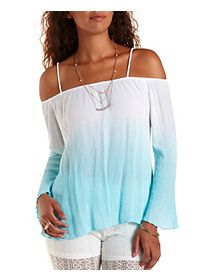 Off-the-Shoulder Dip-Dye Top