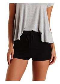 High-Waisted Sporty Mesh Shorts