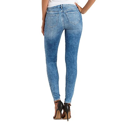 "Refuge ""Skin Tight Legging"" Ripped Skinny Jeans"