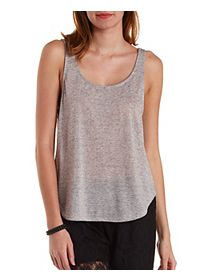 Slouchy Slub Knit Tank Top