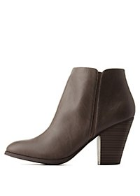 Chunky Heel Ankle Booties