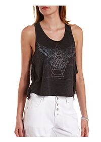 Fringe Faded Americana Graphic Tank Top