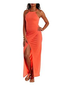 Racer Front Tulip Slit Maxi Dress