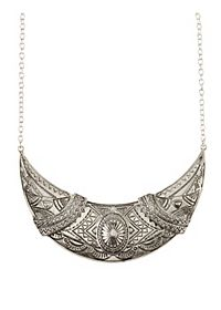 Embossed Crescent Collar Necklace