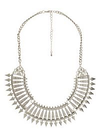 Cut-Out Spike Collar Necklace