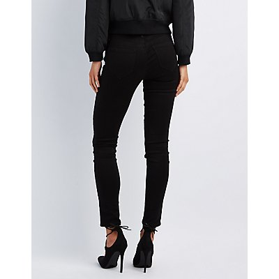 Refuge Skin Tight Legging Black Jeans