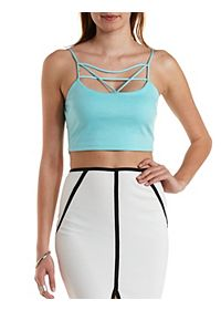 Caged Front Strappy Crop Top