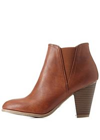 Bamboo Side-Gored Chunky Heel Booties