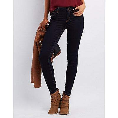 Refuge Skin Tight Legging Dark Rinse Jeans