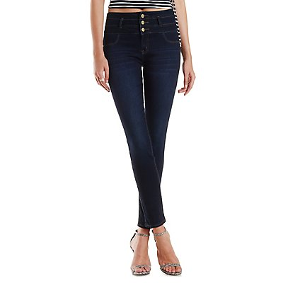 Refuge Hi-Waist Super Skinny Dark Wash Jeans
