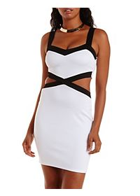 Color Block Cut-Out Dress