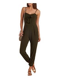Open Back Bow-Front Jumpsuit
