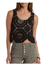 Medallion Lace Crop Top