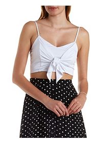 Cropped & Knotted Tank Top