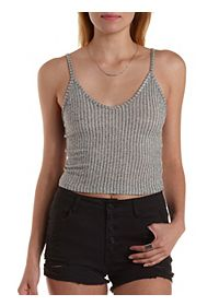 Cropped Sweater Knit Tank Top