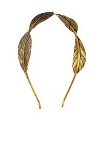 Embossed Metal Leaf Headband