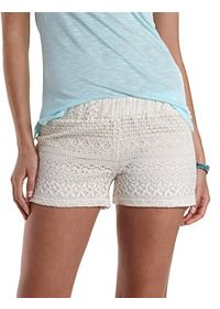 Low Rise Lace Shorts