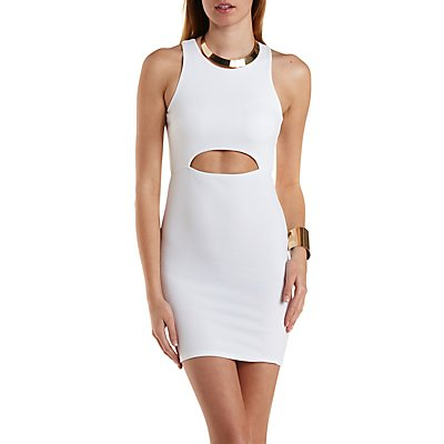 Cross-Back Cut-Out Bodycon Dress