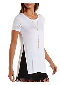 Side Slit Tunic Tee