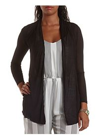 Slouchy Pocket Long Sleeve Cardigan