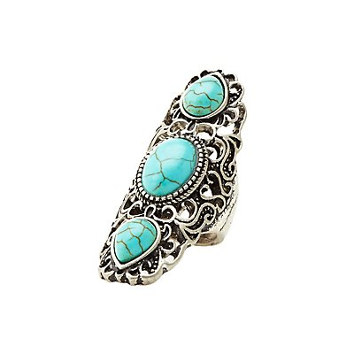 Turquoise Triple Stone Statement Ring