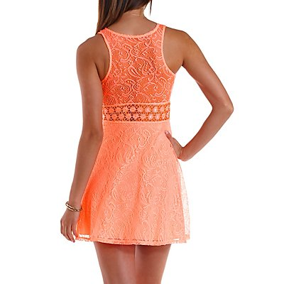 Daisy Crochet & Lace Skater Dress