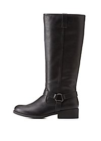 Harnessed Knee-High Riding Boots