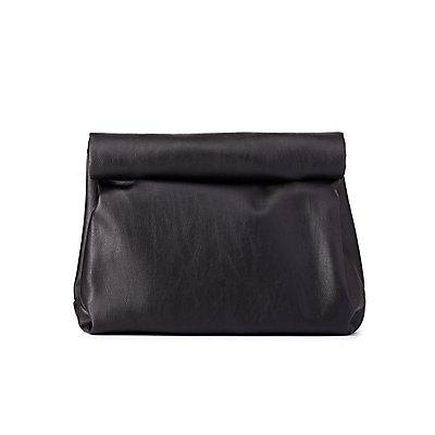 Roll-Down Lunch Bag Clutch
