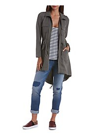 Long Line High-Low Utility Jacket