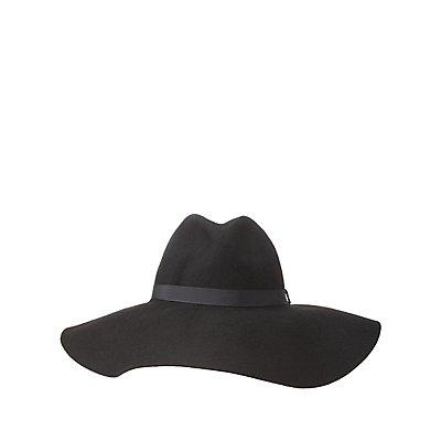 Wide-Brim Felt Panama Hat