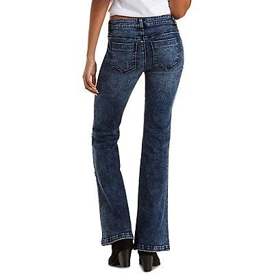 Refuge Flare Acid Wash Jeans
