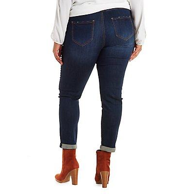 "Plus Size Refuge ""Boyfriend"" Destroyed Jeans"