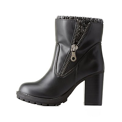 Layered Lug Sole Chelsea Booties