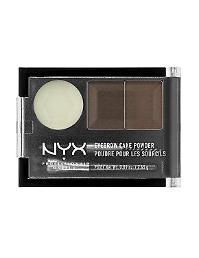 Dark Brown NYX Professional Makeup Eyebrow Cake Powder