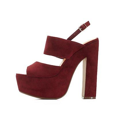 Slingback Platform Chunky Heel Sandals