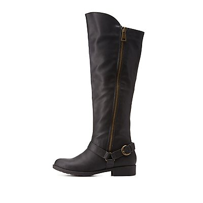 Qupid Harnessed Riding Boots