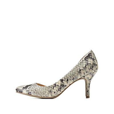 Pointed Toe D'Orsay Kitten Heel Pumps