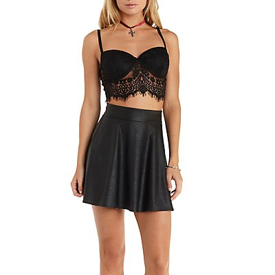 Underwire Lace Bustier Top