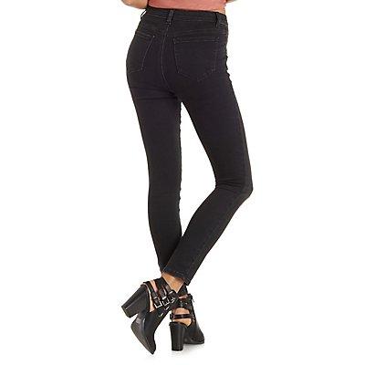 """Refuge """"Hi-Waist Skinny"""" Black Jeans"""