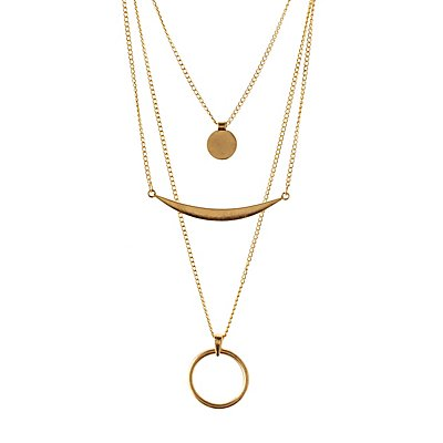 Layered Geo Minimalist Necklace