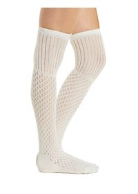 Mixed Pointelle Over-the-Knee Socks