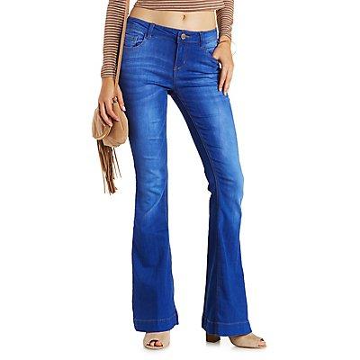 """Refuge """"Flare"""" Blue Wash Denim Jeans"""