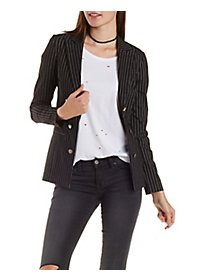 Love & Air Double-Breasted Pinstripe Blazer